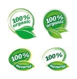 Insieme organico dell'icona. Eco-icone Fotografia Stock Libera da Diritti