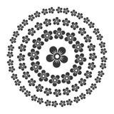 Insieme orientale del modello del cerchio floreale di stile Vettore Immagini Stock Libere da Diritti