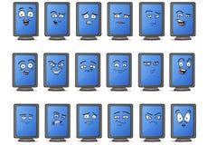Insieme orizzontale dell'icona dell'avatar dell'esposizione del monitor Fotografia Stock