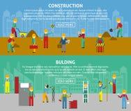 Insieme orizzontale piano di costruzione dell'insegna illustrazione di stock