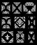Insieme ornamentale del modello Fotografie Stock