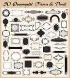 Insieme ornamentale di vettore dei blocchi per grafici e dei comitati dell'annata Fotografia Stock