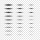 Insieme ovale dell'ombra di vettore Effetto di pendenza e trasparente con il bordo molle sul fondo del controllo royalty illustrazione gratis