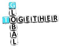 insieme parole incrociate globali 3D Immagini Stock Libere da Diritti