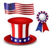 Insieme patriottico dell'oggetto Immagini Stock Libere da Diritti