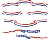 Insieme patriottico della bandiera di Grunge Immagine Stock