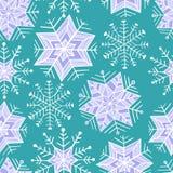 Insieme piacevole del fiocco di neve di inverno Vector il reticolo senza giunte Fotografia Stock