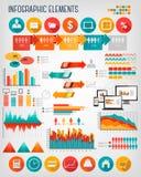 Insieme piano del modello dei grafici di informazioni di affari illustrazione di stock