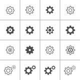 Insieme piano dell'icona della regolazione di progettazione, vettore eps10 royalty illustrazione gratis