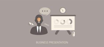 Insieme piano dell'icona di concetto di presentazione moderna e classica di affari Immagine Stock Libera da Diritti