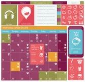 Insieme piano dell'icona di web di progettazione di UI Fotografia Stock Libera da Diritti