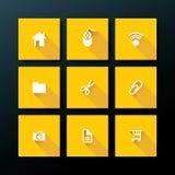 Insieme piano dell'icona di web di vettore Immagini Stock Libere da Diritti