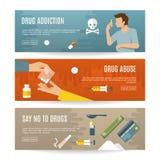 Insieme piano dell'insegna delle droghe illustrazione di stock