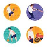 Insieme piano delle icone dei giochi olimpici illustrazione vettoriale