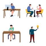 Insieme piano delle icone di Businesspersons royalty illustrazione gratis