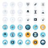 Insieme piano di progettazione delle icone dell'ufficio Immagini Stock
