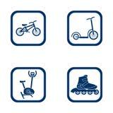 Insieme piano di sport delle icone di progettazione Fotografia Stock Libera da Diritti