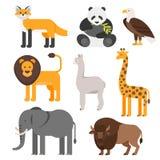 Insieme piano di stile di vettore degli animali royalty illustrazione gratis