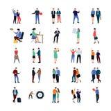 Insieme piano di vettori della gente di Coworking illustrazione di stock