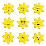 Insieme pieno di sole dell'icona Immagine Stock Libera da Diritti