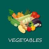 Insieme popolare di vettore delle verdure, illustrazione Fotografia Stock Libera da Diritti