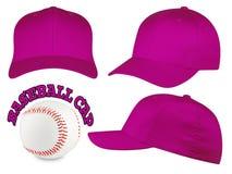 Insieme porpora del berretto da baseball Immagini Stock
