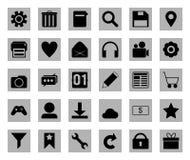 Insieme quadrato dell'icona Fotografie Stock Libere da Diritti