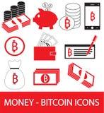 Insieme, raccolta o pacchetto dell'icona cripto di valuta di Bitcoin, logo o Immagine Stock