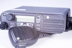 Insieme radiofonico portatile professionale compatto nero Fotografia Stock Libera da Diritti