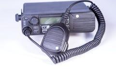 Insieme radiofonico portatile professionale compatto nero Immagini Stock Libere da Diritti