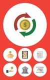 Insieme ricevuto dell'icona piana del diagramma Fotografia Stock Libera da Diritti
