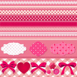 Insieme rosa dell'album per ritagli Fotografia Stock