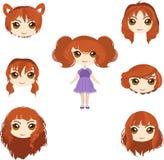 Insieme rosso dei capelli Fotografia Stock