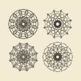 Insieme rotondo dell'ornamento Cerchio ed ornamento floreale Fotografia Stock