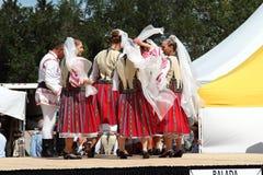 Insieme rumeno di danza popolare di Balada Fotografie Stock