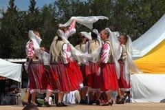 Insieme rumeno di danza popolare di Balada Immagini Stock Libere da Diritti