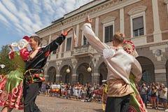 Insieme russo di danza popolare Fotografia Stock