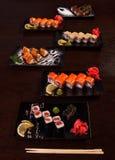 Insieme saporito giapponese dei sushi Fotografia Stock Libera da Diritti