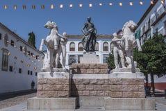 Insieme scultoreo dedicato al torero Manolete, chiamato ` di Manuel Rodriguez del `, Cordova, Spagna fotografia stock libera da diritti