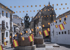 Insieme scultoreo dedicato al torero Manolete, chiamato ` di Manuel Rodriguez del `, Cordova, Spagna fotografia stock