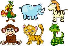Insieme selvaggio degli animali in secondo luogo Royalty Illustrazione gratis