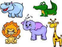 Insieme selvaggio primo degli animali Illustrazione Vettoriale