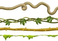 Insieme selvaggio torto dei rami delle liane royalty illustrazione gratis