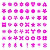 Insieme semplice dell'icona del fiore 56 Fotografia Stock