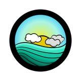 Insieme semplice dell'icona del paesaggio Fotografie Stock