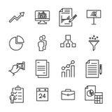 Insieme semplice delle icone relative indipendenti del profilo Immagini Stock
