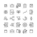 Insieme semplice delle icone relative indipendenti del profilo Fotografie Stock Libere da Diritti