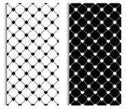 Insieme senza cuciture in bianco e nero del modello Struttura, fondo per, tessuti, decorazione domestica, web design illustrazione di stock
