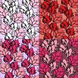 Insieme senza cuciture del modello del loto floreale rosa Fotografia Stock Libera da Diritti