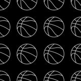 Insieme senza cuciture del modello della palla di pallacanestro Fondo di sport illustrazione vettoriale